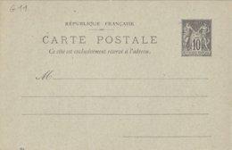 SAGE 10 C. -  2 Noir/vert Avec Réponse Neuf Avec Et Sans Date - 2 Scans - Standard Postcards & Stamped On Demand (before 1995)