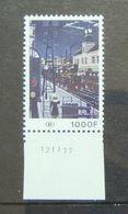 Timbre Chemins De Fer, Gare, Train, Locomotive à Vapeur- Railways  (TR432 - Tableau De Paul Delvaux) *Coin Daté - 1000fr - Railway