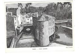 NIORT (79) L'Eau Barrée Carte Illustrée Souvenir Philatélique Entier Postal 1947 - Niort