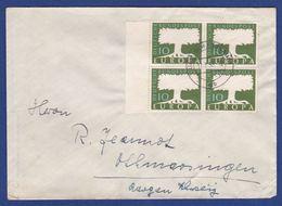 Brief Mit Mehrfachfrankatur MiNr. 268, Bogenrand (br9908) - [7] Federal Republic