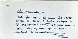 SIM ACTEUR FANTAISISTE BELLE CARTE DE VOEUX ENTIEREMENT MANUSCRITE ET SIGNEE - Autografi