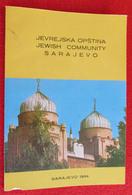 SARAJEVO - BOSNIA AND HERZEGOVINA, JEWISH COMMUNITY JUDAICA BROCHURE - Slawische Sprachen