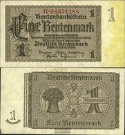 German Empire Rosenbg: 166c, Firmendruck 8stellige Kontrollnummer Uncirculated 1937 1 Rentenmark - [ 3] 1918-1933 : República De Weimar