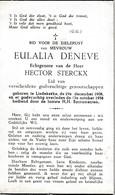 Liedekerke, 1958, Eulalie Deneve, Sterckx - Images Religieuses