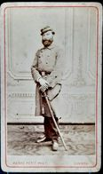 MILITAIRE GARDE NATIONALE 1870 PORTRAIT EN PIED EN UNIFORME FORMAT CARTE DE VISITE - War, Military