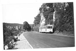 NAMUR Environs (Belgique) Photographie Format Cpa Tramway électrique Ligne Huy Namur 1950 - Namur