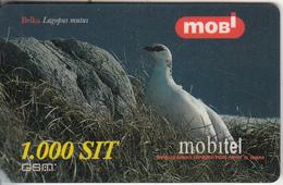SLOVENIA - Bird, Lagopus Mutus, Mobitel Prepaid Card 1000 Sit, CN : 004412538, Exp.date 31/12/01, Used - Eslovenia