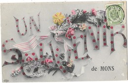 MONS (Belgique) Carte Fantaisie Souvenir - Mons