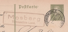Deutsches Reich Karte Mit Landpoststempel Mossberg Türkismühle Land 1932 - Interi Postali