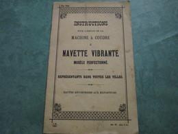 Instructions Pour L'emploi De La MACHINE à COUDRE à Navette Vibrante (20 Pages) - Autres Appareils