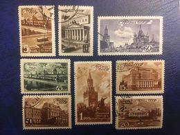RUSSIE RUSSIA URSS 1946 - Monuments Moscou - Série Complète De 8 Valeurs Used - Cf Scan - 1923-1991 URSS