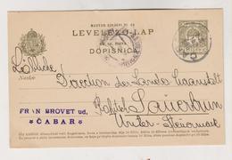CROATIA HUNGARY 1906  CABAR Postal Stationery - Croazia