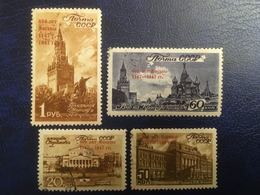 RUSSIE RUSSIA URSS 1947 - Monuments Moscou - Série Complète De 4 Valeurs Used - Cf Scan - 1923-1991 URSS