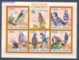 Comoros 2009 Mi 2387-2391 MNH ( ZS4 COMark2387-2391 ) - Parrots