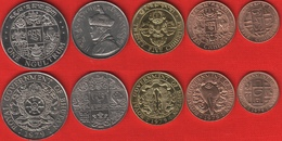 Bhutan Set Of 5 Coins: 5 Chhertum - 1 Ngultrum 1955-1979 UNC - Bhutan