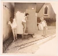 Pin_up : 3 Femmes Peignant Un Abri : Peinture - Bricolage - ( Format : 8,7cm X 8,7cm ) - Pin-ups