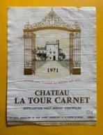 13532 - Château La Tour Carnet 1971 Haut-Médoc - Bordeaux