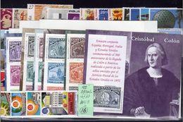 España 1992 Edifil 3152/3236 Sellos ** Año Completo Con Hojitas Spain Stamps Timbre Espagne Briefmarke Spanien Francobol - 1971-80 Ongebruikt