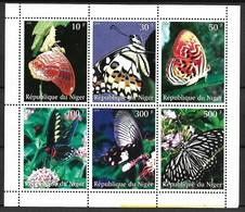 NIGER 1999 BUTTERFLIES  MNH - Schmetterlinge
