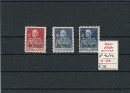 ERITREA 1925-26  MNH/MLH CAT. N° 96-98 - Eritrea