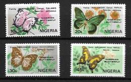 NIGERIA 1982 BUTTERFLIES  MNH - Butterflies