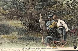 La Vie En Plein Air - Un Coup De Main Inattendu Peintre Colorisée 1911 (prix Fixe) - Pittura & Quadri