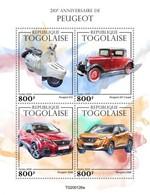 Togo 2020, Cars, Peugeot, Moto, 4val In BF - Motos