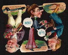 Littauer & Boysen L & B N° 3970 - SCRAP -  DECOUPIS  - DIE-CUT - Gaufré / Embossed - Personnages Grotesques - 3 Scans - Victorian Die-cuts