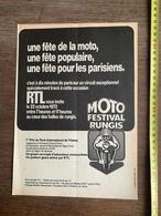DOCUMENT FETE DE LA MOTO RTL FESTIVAL RUNGIS - Vieux Papiers