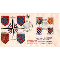 FDC - Blasons Des Provinces - Oblit Paris 3/11/54 - 1950-1959