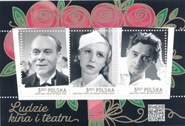 Poland 2020  People Of Cinema And Theatre Mni Sheet MNH** - 1944-.... Republiek