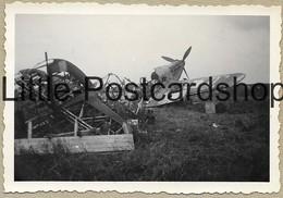 Foto Arras Abgeschossenes Englisches Flugzeug 1940 Abattu Avion Anglais WW2 Flugzeugwrack  2.WK - Guerra 1939-45