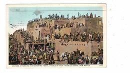 LAS VEGAS, New Mexico, USA, Visitors At San Geronimo Fiesta, Pueblo Of Taos, 1928 Linen Postcard - Andere