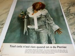 ANCIENNE PUBLICITE TOUT CELA N EST RIEN  PERRIER  1972 - Perrier