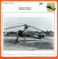 Fiche Aviation KELLETT KD 1 / Hélicoptère Terrestre USA  Avions - Aerei