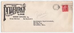 CABLE - BRAS - ANATOMIE / 1956 USA - NEW YORK - ENVELOPPE PUBLICITAIRE ILLUSTREE  (ref GF151) - Stati Uniti