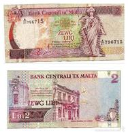 Billet Malte  2 Lirie - Malte