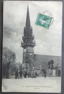 CPA 29 LA ROCHE MAURICE ( Près LANDERNEAU ) - L'Eglise - Animation - FT 15 - Réf. B 154 - La Roche-Maurice