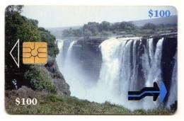 ZIMBABWE REF MV CARDS ZIM-02 100$ WATERFALLS - Simbabwe