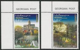 "GEORGIA /GEORGIEN /GEORGIE  -EUROPA  2007-"" A CENTENARY SCOUT -EUROPA-CEPT""- SERIE 2 V. CH - 2007"