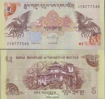 Bhutan Pick-Nr: 28c Bankfrisch 2015 5 Ngultrum - Bhutan