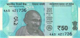 India (RBI) 50 Rupees 2017 W/O Plate Letter UNC Cat No. P-111a / IN300a - India