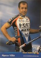 Postcard Marco Villa -  Index-Alexia  - 2002 - Ciclismo