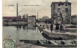 GIVORS (69 RHÔNE) LE CANAL ET LES USINES PRENAT - Givors