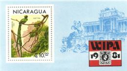 Nicaragua 1981 Mi. Block 137 MNH, WIPA Vienna, Bird, Quetzal, Pharomachrus Mocinno - Cuckoos & Turacos