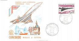 ENVELOPPE CONCORDE       WALLIS &  FUTUNA     PREMIER JOUR D ' EMISSION HISTORIQUE F.D.C.  1969 - Concorde