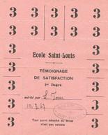 Témoignage De Satisfaction - Ecole Saint Louis De Saint-Nazaire (Loire Atlantique) - 1947 - Diploma & School Reports