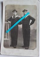 1914 1918 Marins Français Bachi équipages De La Flotte Compagnie De Débarquement Poilus Tranchées Ww1 1914 1918 Cart Ph - Guerra, Militari