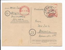 Notausgaben Brit. Zone Hannover 1 - PA01 - 6 Pf V. Hamm N. Bremen Bedarfsverwendet - Allemagne