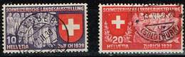 Schweiz 1939,Michel# 335 - 337 O - Suiza